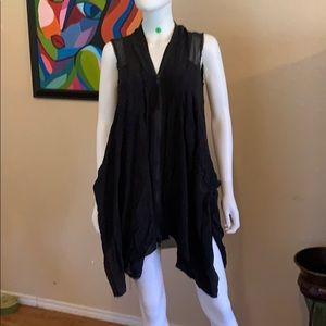 Beautiful Black Shear ALL SAINTS Silk dress Sz 4
